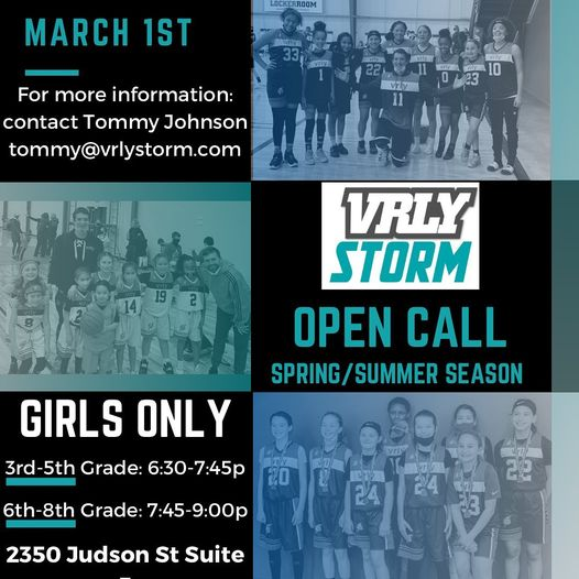 Spring and Summer Tryouts March 1st, 6:30 - 9:00 PM